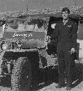 Ascani and his Jeep in Italy � 1942, combat tour in B-17�s. Snooney, is a term of endearment given by General Ascani's wife. From General Ascani's private collection
