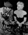 Chuck Yeager & Eva Gabor at Nellis AFB, 1954 (Chuck was part of the Fighter-Bomber group commanded by Fred at the time). From General Ascani's private collection
