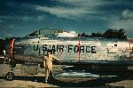 Major Fred J Ascani (now retired Major General Fred J Ascani, beside F-86H Sabre. Thanks for your help and the photograph Fred