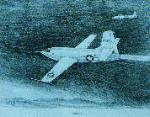 This drawing of the Bell X-1 was done for me by artist Ossie Jones