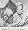 Photograph of Col. Chuck Yeager & Jackie Cochran from an article in the Antelope Valley Ledger Gasette (Tuesday, October 17, 1961). Courtesay AFFTC/HO