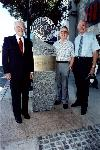 With Joe Cotton, Air force B-70 test pilot and Fitz Fulton, who ferried the surviving XB-70 from Edwards AFB to Wright-Patterson AFB.